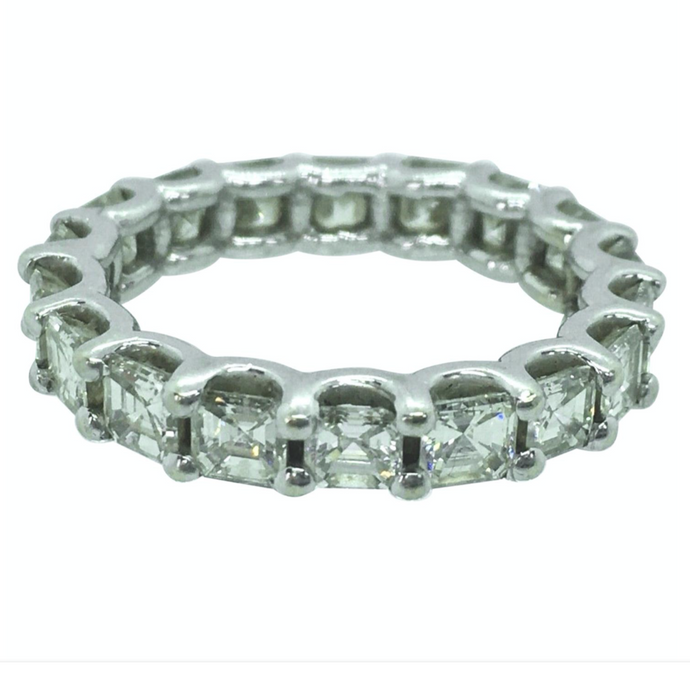Fine 5.00 Carat Wedding  Anniversary Diamond Eternity Band Ring Size 8