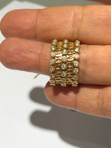 Vintage Expandable Ring Bracelet 1.30 Carat Diamond