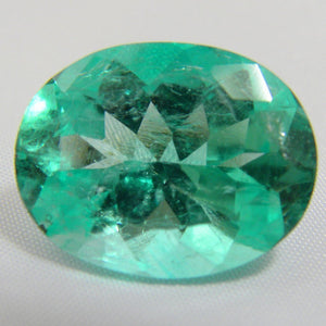 Loose 16.16ct EGL USA Certified Natural Green Colombian Emerald Oval Cut 20x16mm