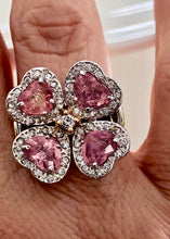 Load image into Gallery viewer, GIA Certified 6.20ct Padparadscha Sapphire & Diamond Ring Exquisite 18k White Gold