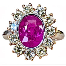 Load image into Gallery viewer, 4.64 Carat Burma Pink Sapphire Diamond Ring 18K Gold