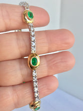 Load image into Gallery viewer, 6.50 Carat Estate Emerald Diamond Bracelet Gold