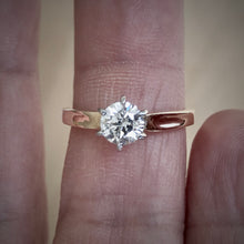 Load image into Gallery viewer, Vintage 0.75 Carat Natural Diamond Engagement Ring 18K & Platinum