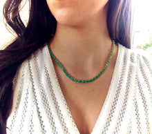 Load image into Gallery viewer, 25 Carat Colombian Emerald Necklace 18k Yellow Gold