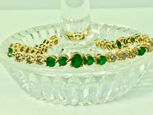 Load image into Gallery viewer, Riviera Emerald and Diamond Bracelet