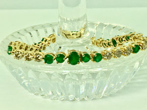Riviera Emerald and Diamond Bracelet