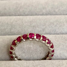 Load image into Gallery viewer, 2.50ct Ruby Eternity Wedding Band Ring 14K White size 7