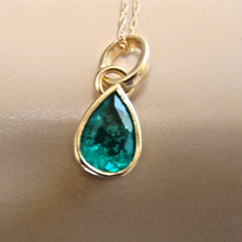 Load image into Gallery viewer, Emerald Charm Pendant 18K Yellow Gold
