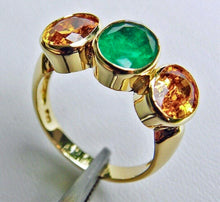Load image into Gallery viewer, 5.90 Carat Colombian Emerald Yellow Sapphire Cocktail Ring 18K