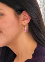 Load image into Gallery viewer, 7.25ct Natural Burma Pink Sapphire Diamond Earrings 18k Gold
