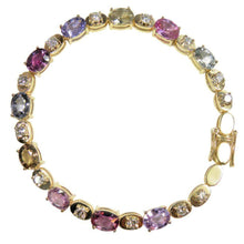 Load image into Gallery viewer, 16.00ct No Heat Multi-Color Sapphire Diamond Bracelet 18k