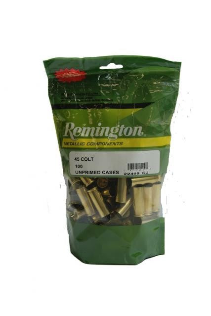REMINGTON .45 LONG COLT U/P CASES (BAG 100)