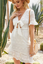 RUFFLE BATHING SUIT COVERUP