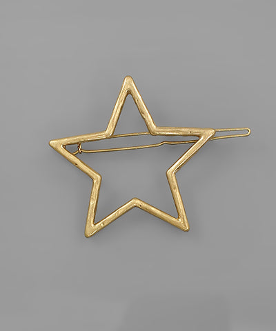 STAR HAIR HAIR CLIP/WORN GOLD