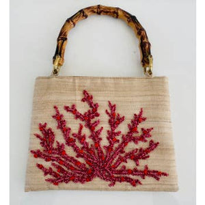 CORAL BAMBOO CLUTCH