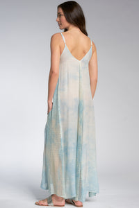 CLOUD PRINT MAXI DRESS