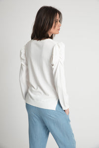 VICTOR RUCHED LONG SLEEVE LIGHT SWEATER