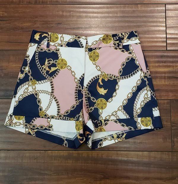 OVI GOLD CHAIN SHORTS