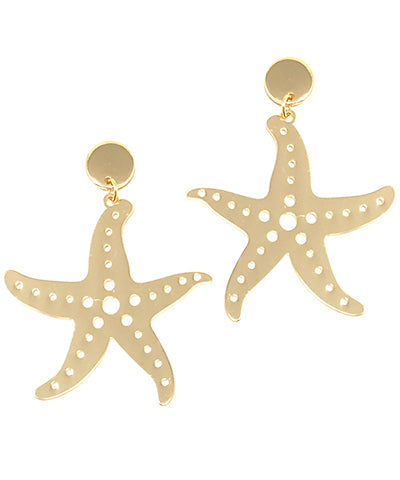 STARFISH EARRINGS - BRASS