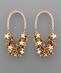 STAR CLUSTER CRYSTAL ARCH EARRINGS