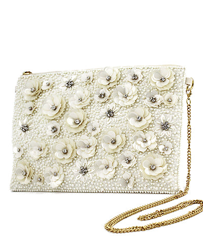 PEARL FLOWER CLUTCH