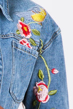 YELLOWBIRD CROP DENIM ROSE JACKET