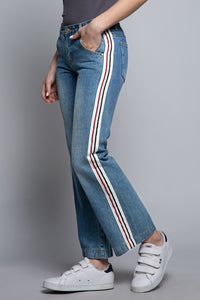 STRAIGHT FIT JEANS SIDE STRIPE