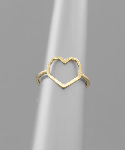 HEART WIRE RING/GOLD