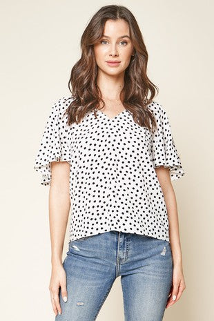SUMMER'S POLKA DOT BLOUSE
