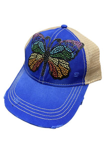 RAINBOW BEADED BUTTERFLY HAT