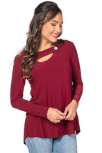 BUTTON STRAP NECKLINE TOP