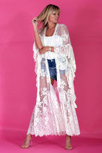 BARBARA 2 TIER LACE KIMONO COVER UP