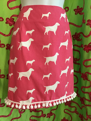PINKY POM POM BARBIE DOG SKIRT