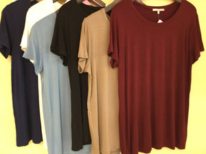 Modal Short Sleeve round neck top