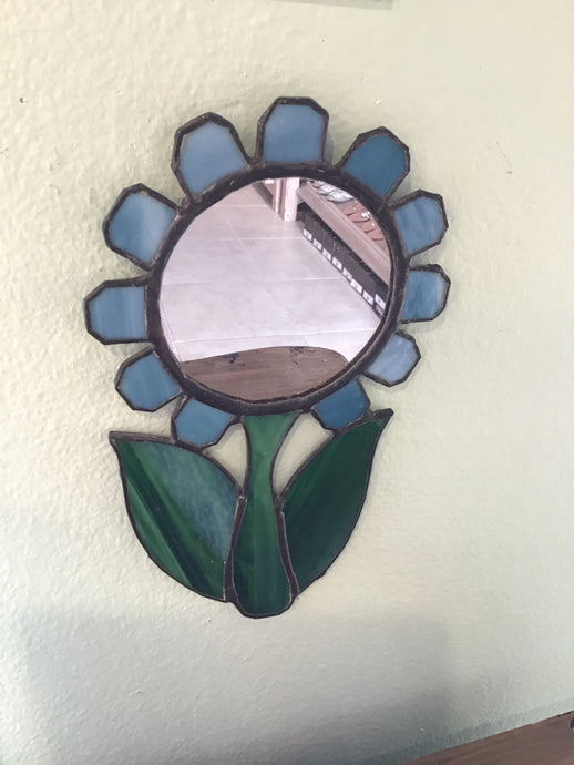 FLOWER STAINED GLASS MIRROR