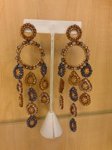 CAMEL CHANDELIER EARRINGS