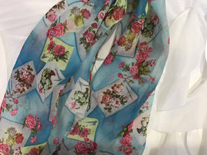 BELLAGIO BOUQUET OF ROSES SCARF