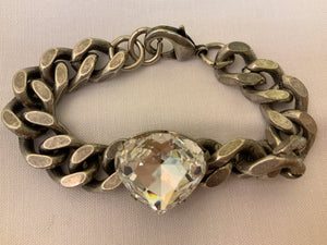 TEAR DROP DIAMOND CHAIN BRACELET