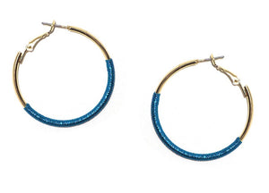 THREAD WRAPPED HOOPS