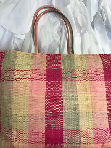 STRAW WOVEN TOTE BEACH BAG