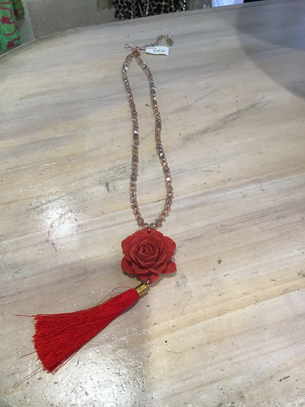 Necklace - Red Rose