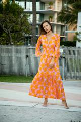 ALRAK PRINT MAXI DRESS