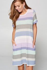 LAVY STRIPED T-SHIRT DRESS