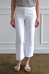 PLEATED HEM CROPPED PANT