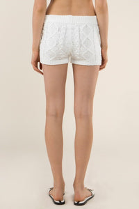 BERBER CABLE KNIT SHORTS