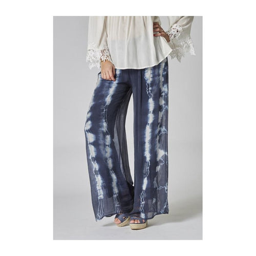 TIE DYED SILK PANTS