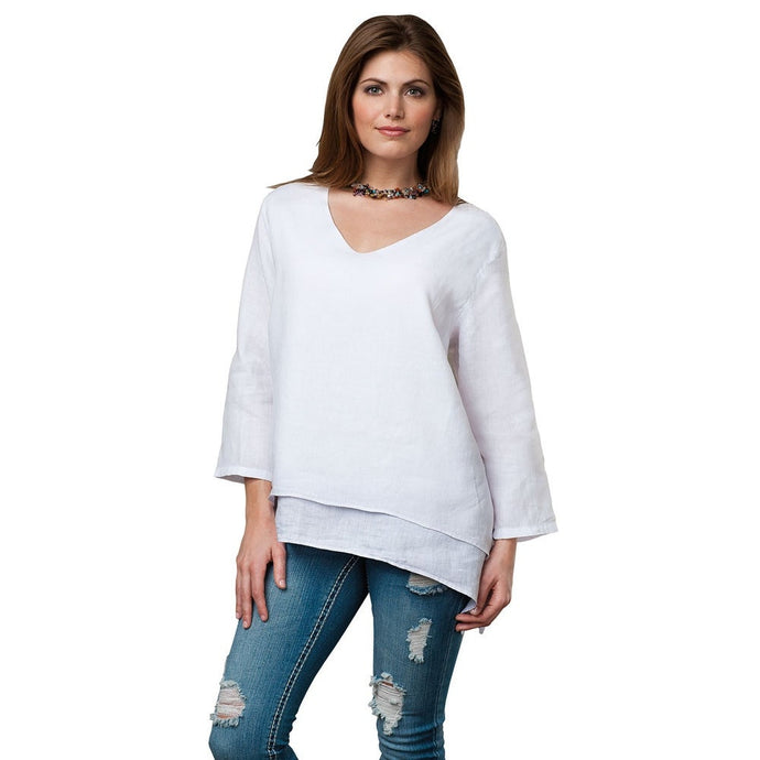 V-NECK LAYERED TOP