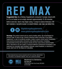 Load image into Gallery viewer, Rep Max - Get Strong AF Supplements