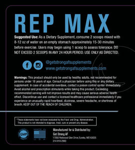 Rep Max & Swole Max Combo - Suggested Use