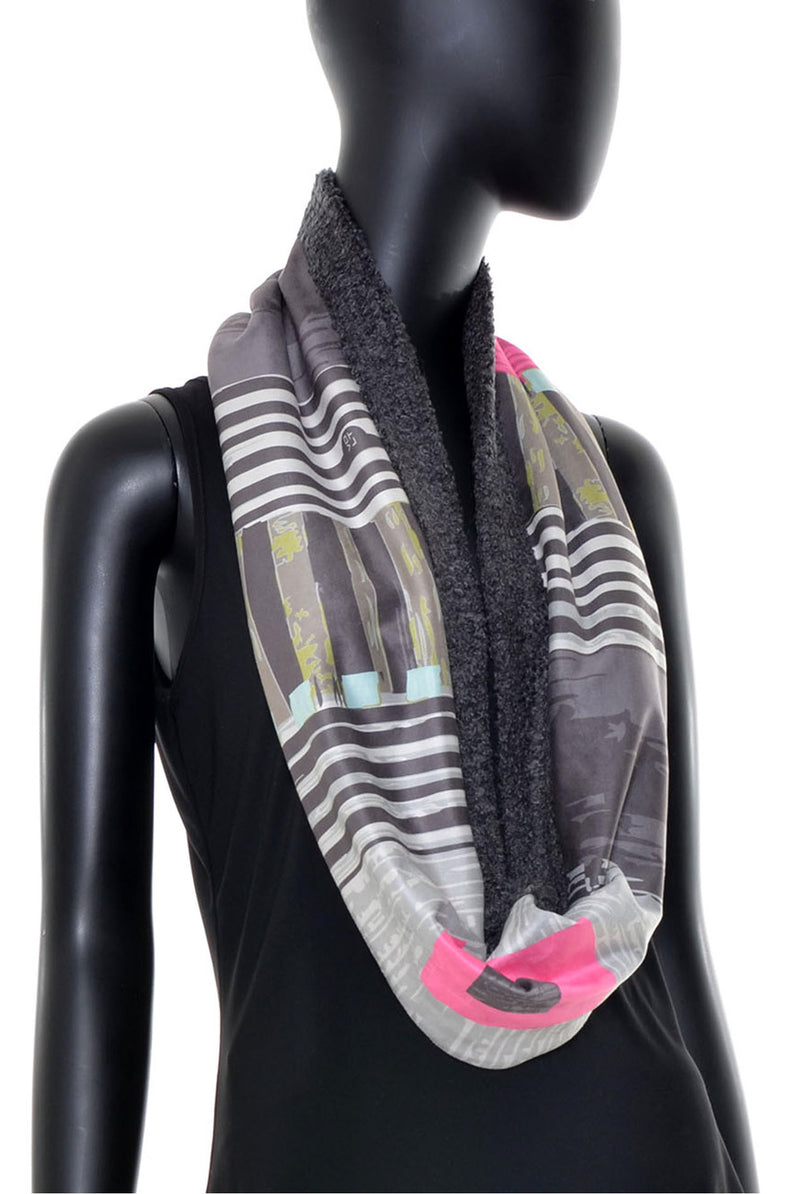 Foulard tube réversible no.381